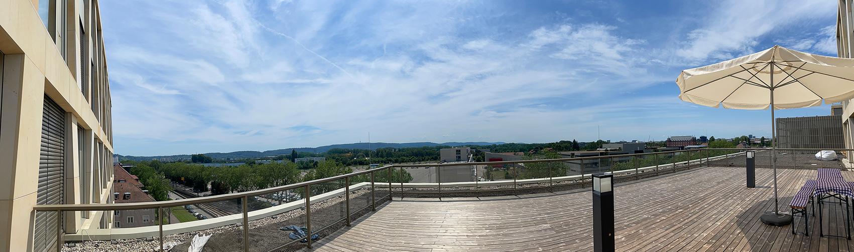 Dachterrasse Panorama Durlacher Allee 75-77