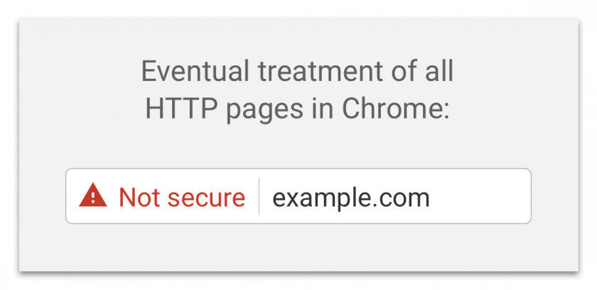 Chrome HTTP-Warnmeldung ab 1. Januar 2017